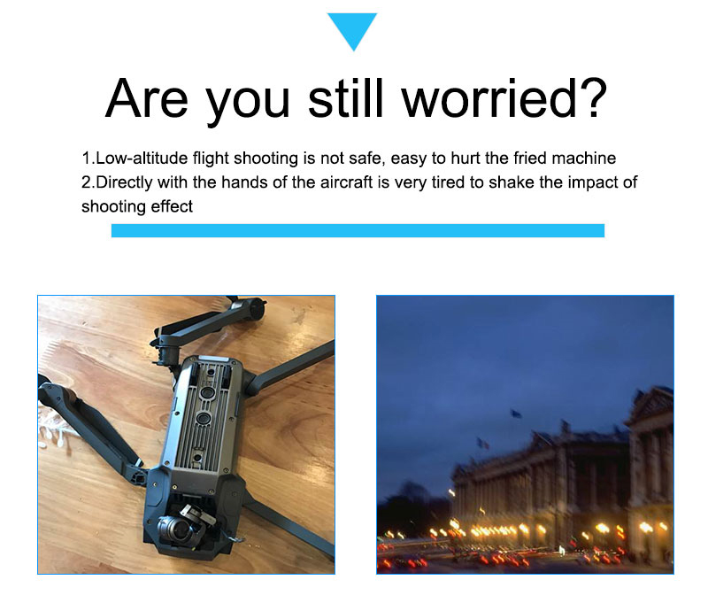 Upgrade DJI Mavic Pro Handheld Gimbal Stabilizer Tray Portable Handle Bracket Kit For DJI Mavic Pro Drone Accessories