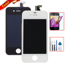 Tested For iPhone 4 4G 4S LCD Display With Touch Screen Digitizer Assembly With Glass Film + Repair Tools