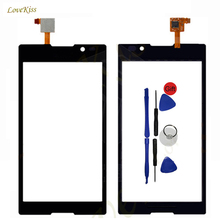 Replacement Digitizer Panel For Sony Xperia C S39H C2304 HSPA+ C2305 Touch Screen Sensor Outer Glass Phone Repair Part + Toolkit