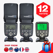 New Yongnuo YN560-TX YN560TX Wireless Flash Controller + 2PCS YN560IV YN560 IV Speedlight for Canon Camera 5D 600D 650D 700D(Hong Kong)