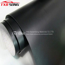 1.52*30m/Roll Premium quality Matt black car sticker matte black vinyl film with air free bubbles Matt black wrap film