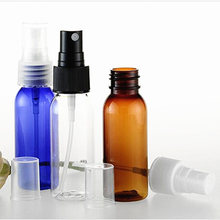 50pcs/lot Maquiagem My Bottle Amber PET Perfume Bottles China Atomizer Mini Plastic Transparent 30ml Bottle Travel Spray Bottle