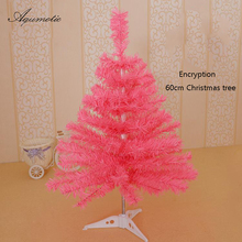 Aqumotic Pink Christmas Tree Creative White Tree For Christmas Discount Artificial Cute Decoration Unique Black Christmas Tree(China)