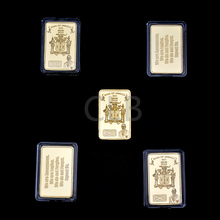 Wholesale 999/1000 Gold Bars 2013 JAMAICA Bank Gold Bullion with The Plastic Case for Home Decor and Souvenir 5 Pcs/lot