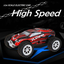 The best Chirstmas gifts rc toys RC Truck Model Super Speed A999 1/24 scale High Speed sport Racing Car Baby Kids Cars(China)