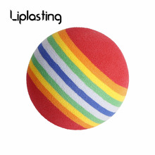 Liplasting Brand 20 Pcs Rainbow Golf Ball Stripe FOAM Sponge Golf Balls Swing Practice Training Aids Outdoor Sport Free shipping(China)
