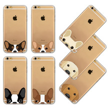 Phone Case for iPhone 4 4S 5 5s SE 6 6S 6Plus 6SPlus Cover Soft TPU Silicon Clear Cute Cat Dog Mobile Phone Bag Capa Celular