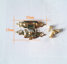 30*18mm Hardware Gift wooden box hasp Jewelry box accessories Metal buckle Lock Locking Latching 100pcs/lot Wholesale