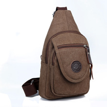 High-Capacity Casual Canvas Men Cross body Bags Solid Durable Compact Personality Messenger Bags Convertible Shoulder Chest Bag