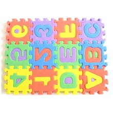 carpet Wish list  36pcs Newborn baby Mini Puzzle Early Educational Toy Funny Toy Alphabet A-Z Letters Numeral Foam Mat
