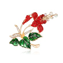 Panic Buying Classic vintage Poppy flower Brooch and Pins for women Big Scarf Decorations fashion retro Party Gift To Girls(China)
