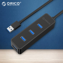 ORICO USB 3.0 HUB 4 Ports 5Gbps Super Speed with Vl812 Chipsets for Apple Macbook Air Laptop PC Tablet-(W5PH4)