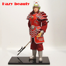 Warring States General Warrior Statuette Handmade products Heroes Union Military Dolls Ancient home Decoration ningdie