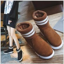 AkexiyFashion Women Boots Ankle Boots 2017 winter snow boots platform keep warm non slip women boots student sports cotton shoes(China)