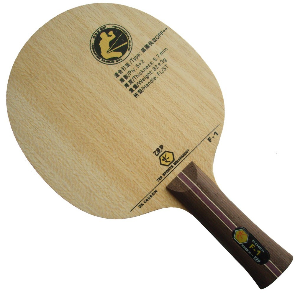RITC 729 Friendship F-1 (F1, F 1) 3K Carbon OFF++ Table Tennis Blade (Shakehand) for PingPong Racket<br>