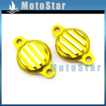 Gold CNC Aluminum Tappet Valve Covers Caps For Chinese Lifan 125cc 140cc Engine Pit Dirt Monkey Bike Motorcycle(China)