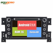 Android 7.1.1 HD 1024*600 Quad Core Car Multimedia DVD Head Unit Player for Grand Vitara 2005-2011 Radio Stereo RDS 4G  DAB+