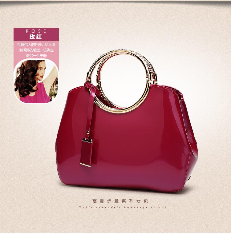 New High Quality Patent Leather Women bag Ladies Cross Body messenger Shoulder Bags Handbags Women Famous Brands bolsa feminina (21)