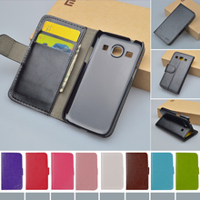 Flip PU Leather Case For Samsung Galaxy Star Advance G350e SM-G350E Cover Book style J&R Brand Phone Case for Galaxy Star 2 Plus(China)