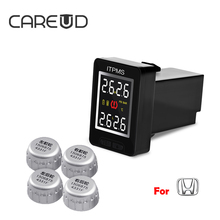 CAREUD TPMS U912 for Honda Car Tire Pressure Monitor Wireless Embedded Monitor LCD Screen Battery Changed Car Electronics Alarm