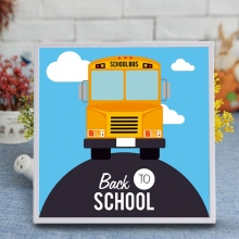 Cutiepop 5D Resin Diamond Painting Cross Stitch Kindergarten School Bus Picture Paste Puzzle Rhinestone Mosaic Art T055