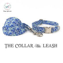 the spring flower dog  collar and leash set   cotton  dog &cat necklace and dog lead for pet supplies