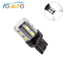 led light car  w21/5w 7443 7440 led rouge pure white cars backup lights 12 SMD 5730 cree led chips car 5w  lamp Bulbs D035