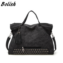 Bolish Drop shipping Bolsa Feminina Female High Capacity Tassel Crossbody Bag Lady All-Purpose Style Daily Shopping Handbag(China)