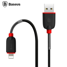 Baseus Spring Elastic Cord Cable For iPhone 7 6 5S 6S SE iPad iPod High Speed Data Sync Charging USB Charger Cable For Lightning