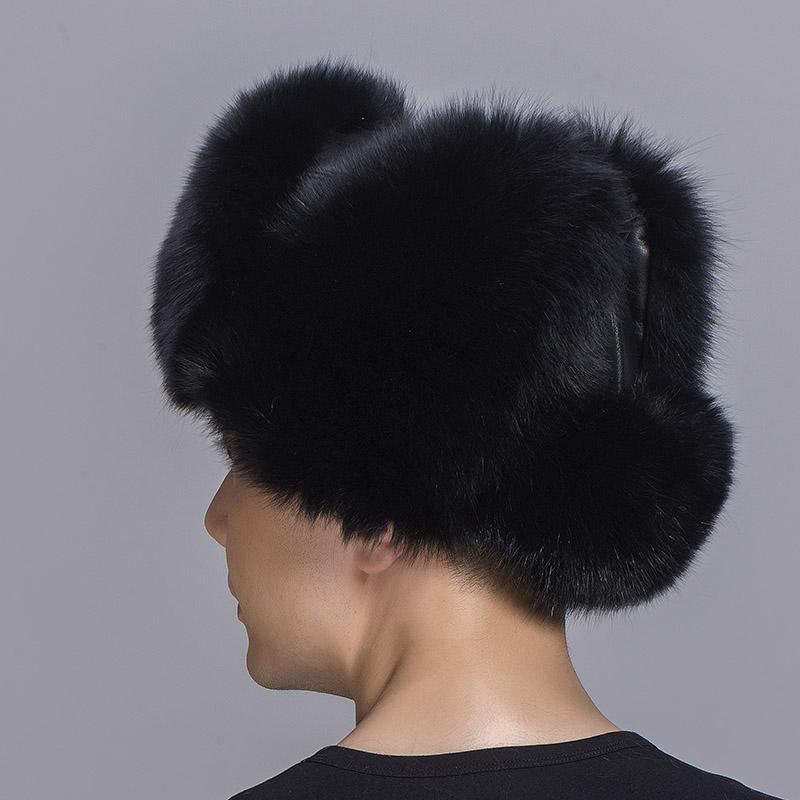 big fur hat black fox fur 1