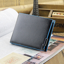 Free shipping+2016 new stylish Men wallet+genuine Leather wallet brand+Pockets Clutch Cente Bifold Purse+ drop sihpping WMB143