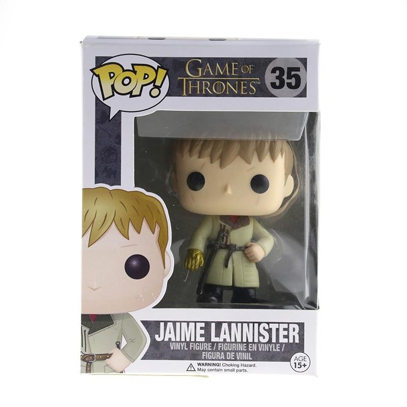New Hot Funko POP Game of Thrones Garage Kits Kingslayer Jaime Lannister  Collection Mini Cute Kids Toys Model Original Box<br><br>Aliexpress