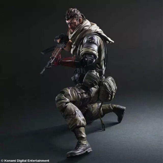 PLAY ARTS 33cm Metal Gear Solid V Snake Action Figure Model Toys<br>