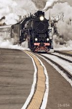 5x7FT Clouds Sky Steam Train Locomotive Rail Custom Photo Studio Backdrop Background Vinyl 220cm x 150cm