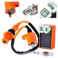 Motorcycle Racing Ignition Coil +Racing Performance CDI +Spark Plug Fit for GY6 50cc 150cc Scooter ATV Go Kart Moped Dirt bike