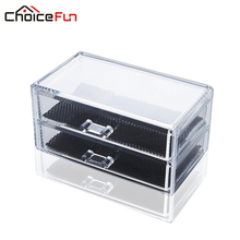 CHOICE FUN Premium Quality Acrylic Makeup Organizer Multifunction Drawer Cosmetic Storage Box SF-1005-3(China)