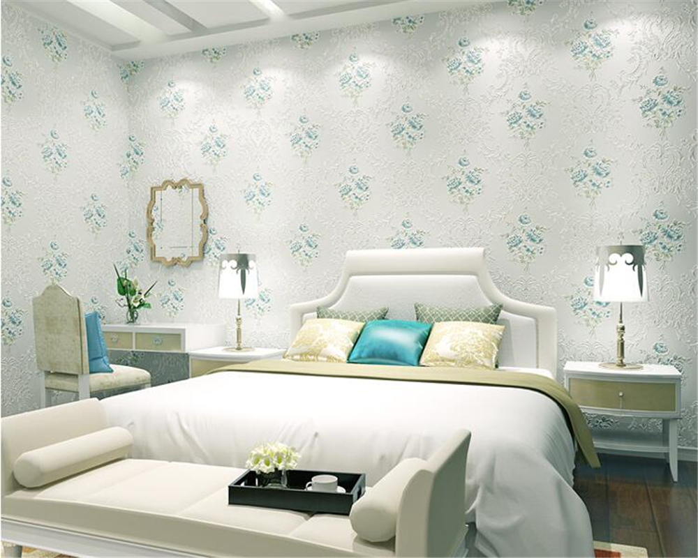 beibehang wallpaper for walls 3 d European pastoral flower gold non woven bedroom living room background wall papel de parede <br>