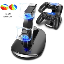 PS4 Accessories Joystick PS4 Charger Play Station 4 Dual Micro USB Charging Station Stand for SONY Playstation 4 PS4 Controller(China)