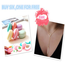 Buy 6 PCS One For Free 6 PCS Mini Earphone SD Card Macarons Bag Storage Box Case Carrying Pouch &1 PC Chain Jewelry Necklace(China)