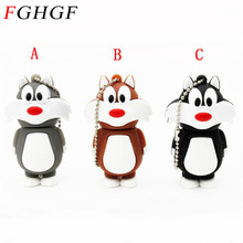 FGHGF Hot Cartoon Cat Model USB Flash Drive USB 2.0 Flash Memory PenDrive 8GB 16GB USB Drive Pen Drive Free Shipping(China)