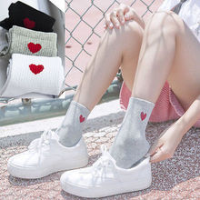Thefound Fashion Cotton Socks Women Loving Heart Pattern Soft Breathable Ankle-High Casual Socks Free Sizes Hot Selling(China)