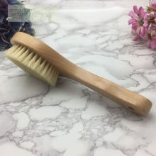 Natural Bristle wooden bath brush skin massage exfoliating Spa Scrubber body brush shower Bathroom products free shipping