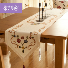 Europe Style Handmade Embroidered Table Runners For Wedding Stylish Table Flag White Table Runners For Wedding