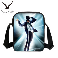 Hynes Eagle New Fashion Casual Flap Bags Michael Jackson Style 3D Print Messenger Bags For Teenage Girls Boy Pop King School Bag
