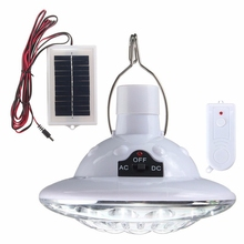 Outdoor 22 LED Solar Powered Yard Hiking Tent Light Camping Hanging Lamp 3.7 v / 1 w Remote Control Pure White Solar panel