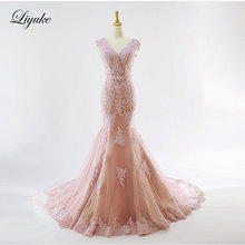 Buy Liyuke Elegant Deep V-Neckline Mermaid Wedding Dress Candy Color Natural Waistline Regular Cap Sleeve Bride Dress Liyuke for $194.98 in AliExpress store