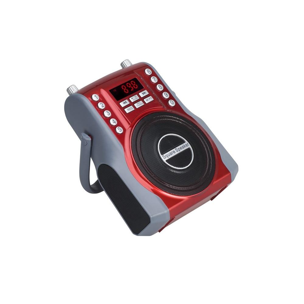 2000mAh*2 Battery Bluetooth Radio FM TF Card/USB/U-disk Radio Strong Signal Support Earphone 3.5mm/6.5mm AUX Plug With Display