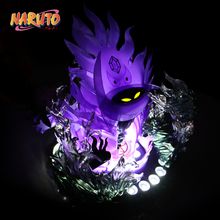 MODEL FANS IN-STOCK NARUTO 13cm q version Sasuke Susanoo Tempestuous God of Valour GK TPU made contain led light figure toy