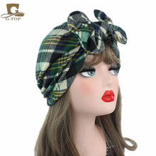 New Stylish Mommy-child Bow Turban Hat Baby Kids Hat Headbands Women Turbante Ladies