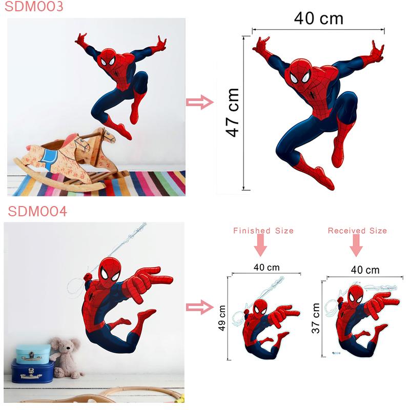 HTB1QIg4Xmr85uJjSZPiq6zOBFXaC - 3d effect hero spiderman wall stickers for kids rooms